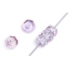 Fire polished Rondelle (Flat Round) 3X6mm Strung Crystal/purple Lustre 1/2 Coat
